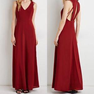Forever 21 Rust Full Length Dress